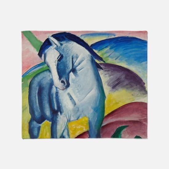 Blue Horse by Franz Marc Throw Blanket