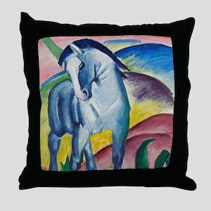 Blue Horse by Franz Marc Throw Pillow