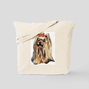 Yorkshire Terrier Dog Portrait Tote Bag