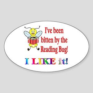 Reading Bug Oval Sticker