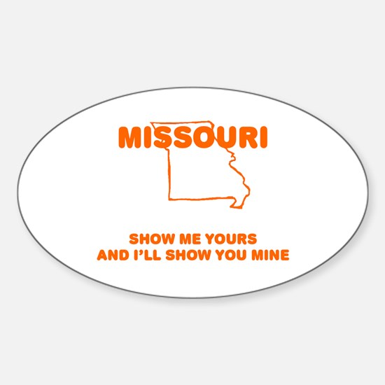 Missouri Show Me Oval Decal