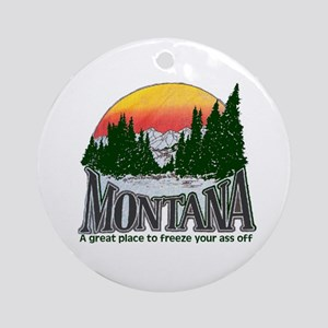 Cold Montana Ornament (Round)
