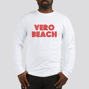 Retro Vero Beach (Red) Long Sleeve T-Shirt