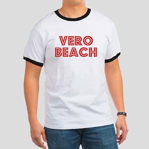Retro Vero Beach (Red) Ringer T