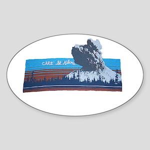 Mt. St Helens Oval Sticker