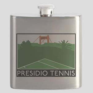 Presidio Tennis Bridge and Trees Flask
