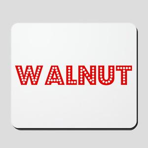 Retro Walnut (Red) Mousepad