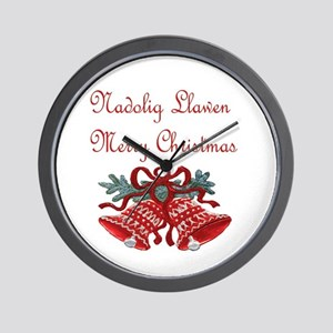 Welsh Christmas Wall Clock