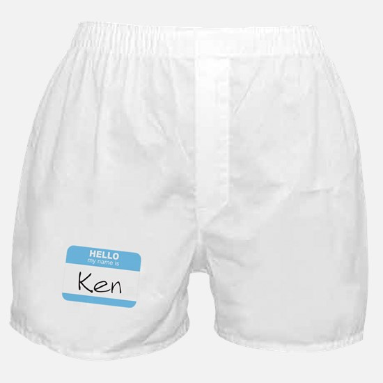 """""""Hello my name is Ken"""" Boxer Shorts"""