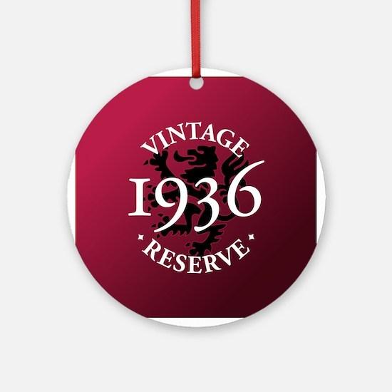 Vintage Reserve 1936 Ornament (Round)