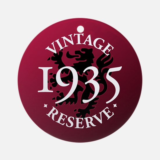 Vintage Reserve 1935 Ornament (Round)