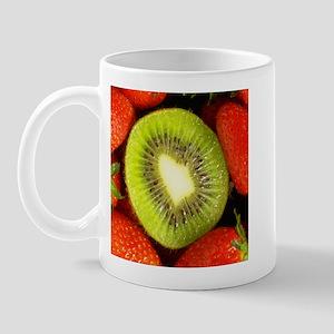 Kiwi and Strawberry Kitchen Set Mug