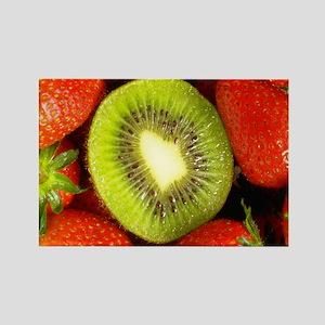 Kiwi and Strawberry Kitchen Set Rectangle Magnet