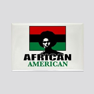 African American Rectangle Magnet
