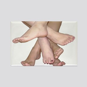 Family of Feet Rectangle Magnet