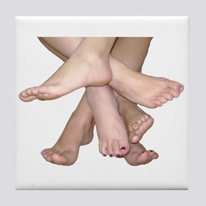 Family of Feet Tile Coaster