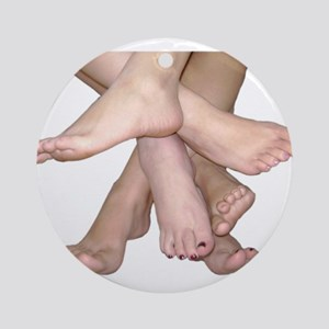 Family of Feet Ornament (Round)