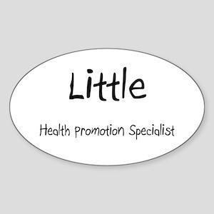 Little Health Promotion Specialist Oval Sticker
