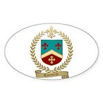 ROUSSELLE Family Crest Oval Sticker (50 pk)