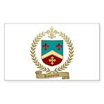 ROUSSELLE Family Crest Rectangle Sticker 10 pk)