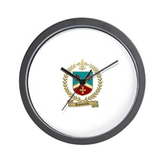 ROUSSELLE Family Crest Wall Clock
