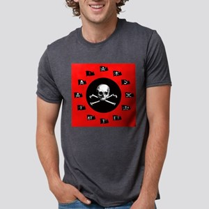 Red Pirate- Jolly Roger White T-Shirt