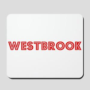 Retro Westbrook (Red) Mousepad