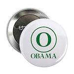 """Green O Obama 2.25"""" Button"""