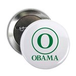 """Green O Obama 2.25"""" Button (100 pack)"""