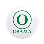 """Green O Obama 3.5"""" Button (100 pack)"""