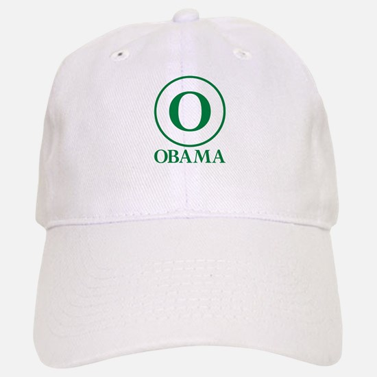 Green O Obama Baseball Baseball Cap