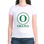 Green O Obama Jr. Ringer T-Shirt