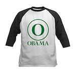 Green O Obama Kids Baseball Jersey