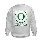 Green O Obama Kids Sweatshirt