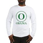 Green O Obama Long Sleeve T-Shirt