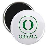 Green O Obama Magnet