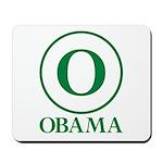 Green O Obama Mousepad