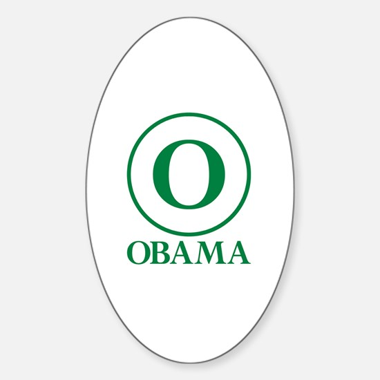 Green O Obama Oval Decal