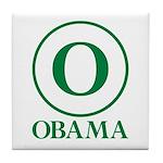 Green O Obama Tile Coaster