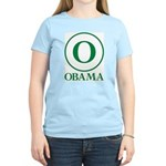 Green O Obama Women's Light T-Shirt