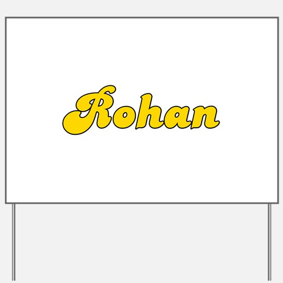 Retro Rohan (Gold) Yard Sign