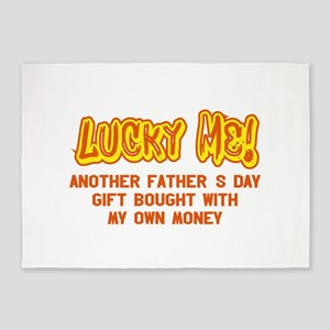 Lucky Me Another Fathers Day Gift B 5'x7'Area Rug