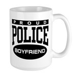 Proud Police Boyfriend Large Mug