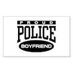 Proud Police Boyfriend Rectangle Sticker