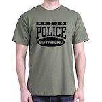 Proud Police Boyfriend Dark T-Shirt