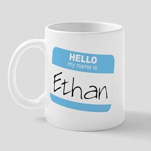 """""""Hello my name is Ethan"""" Mug"""