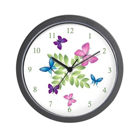 Butterfly Wall Clock by leaann1