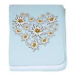 I (heart) edelweiss baby blanket