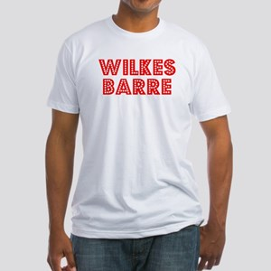 Retro Wilkes Barre (Red) Fitted T-Shirt