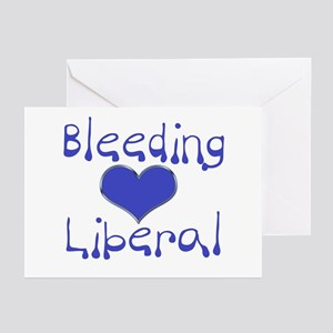 Bleeding Heart Liberal Greeting Cards (Package of